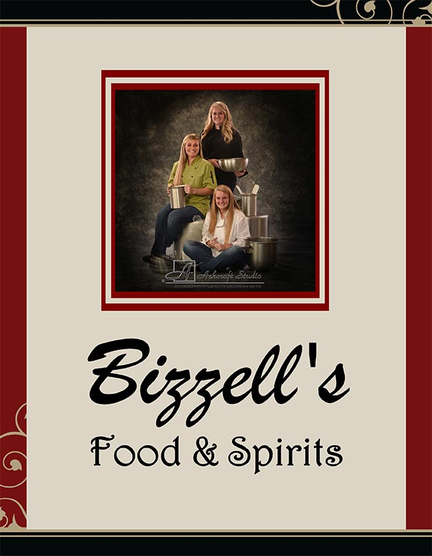 Bizzel's Menu page 1